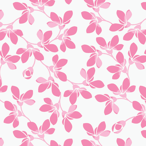 Blooms in Pink fabric by joanmclemore on Spoonflower - custom fabric
