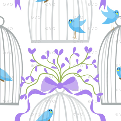 Bedecked bird cages