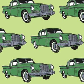 Big finned 1957 Studebaker Hawk (green with light green)