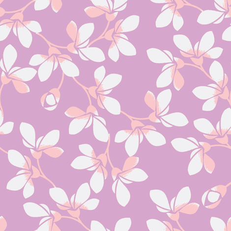 Blooms-ch-ch fabric by joanmclemore on Spoonflower - custom fabric