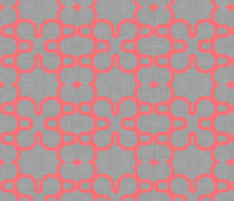 coral_lined_mosaic fabric by holli_zollinger on Spoonflower - custom fabric