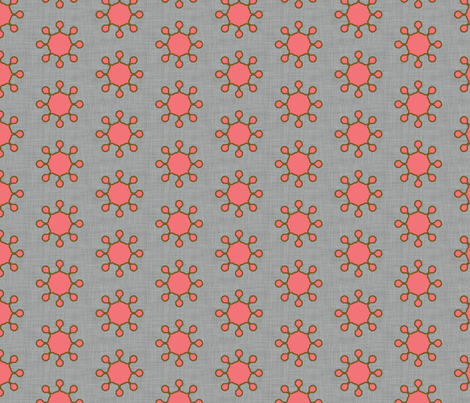 little_suns_coral fabric by holli_zollinger on Spoonflower - custom fabric
