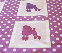 Poodle Polka Dot Baby Cheater Quilt