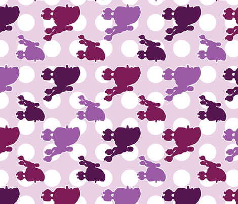 Purple Poodle Polka Dot