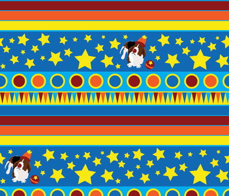 Wilbur the Circus Basset fabric by robyriker on Spoonflower - custom fabric