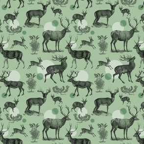 Antlers Pattern (Green)