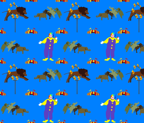At the Circus fabric by brandymiller on Spoonflower - custom fabric