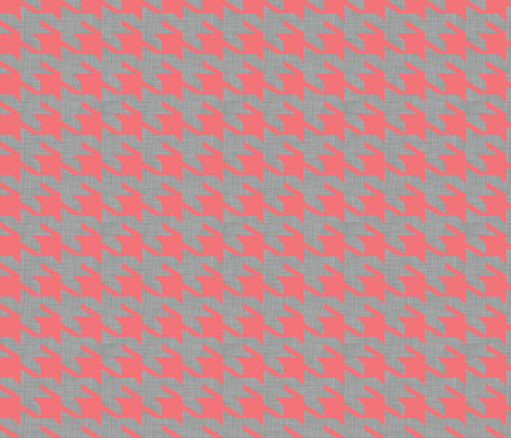 houndstoothe_coral fabric by holli_zollinger on Spoonflower - custom fabric