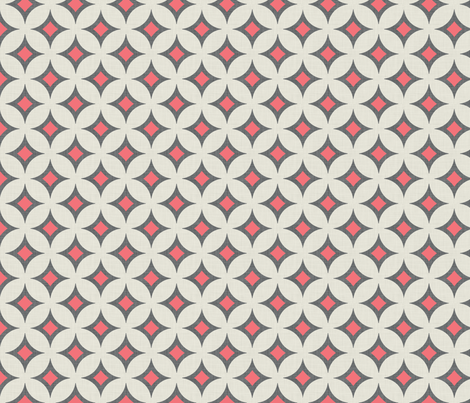 diamond_circles_coral fabric by holli_zollinger on Spoonflower - custom fabric