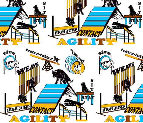 Agilty fabric two and agility wallpaper fabric by dogdaze_ on Spoonflower - custom fabric