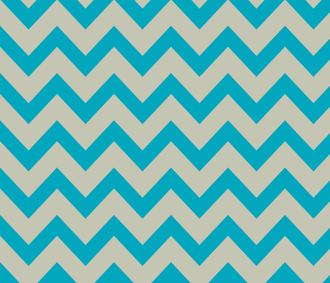 Chevron april rain - blue and gray fabric by ravynka on Spoonflower - custom fabric