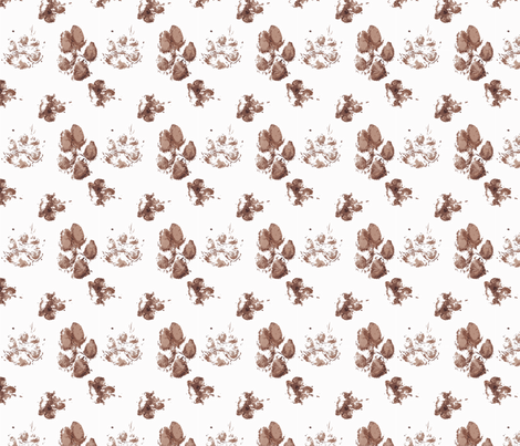 Muddy paw prints fabric by rusticcorgi on Spoonflower - custom fabric