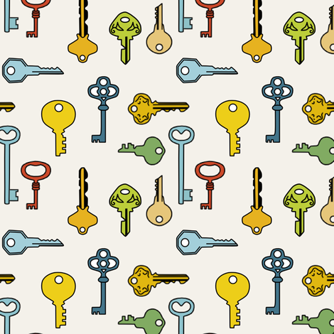 keys fabric by lauredesigns on Spoonflower - custom fabric