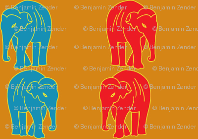 Indian Elephant Striped