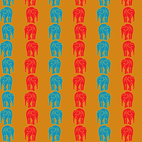 Indian Elephant Striped fabric by trafficjamas on Spoonflower - custom fabric