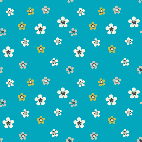 Meadow - april rain fabric by ravynka on Spoonflower - custom fabric