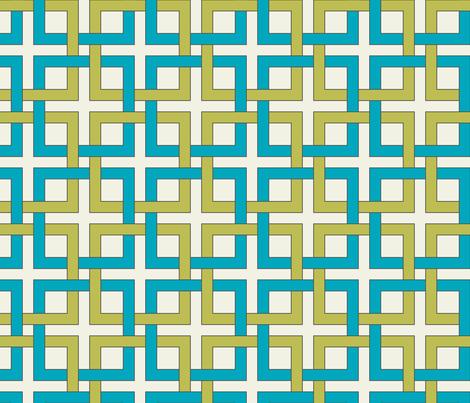 Interlocking squares - april rain fabric by ravynka on Spoonflower - custom fabric