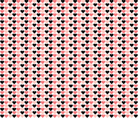 Sweethearts and Blackhearts fabric by asset68 on Spoonflower - custom fabric