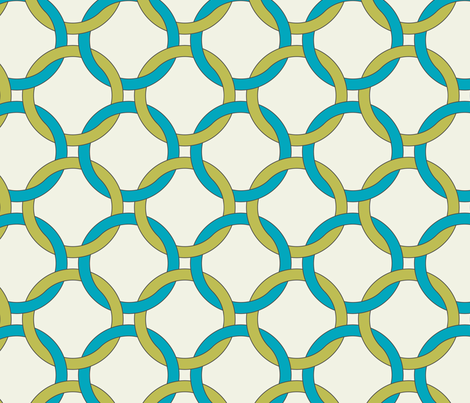 Interlocking circles - april rain fabric by ravynka on Spoonflower - custom fabric