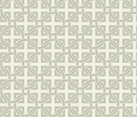 Interlocking circles - gray on white fabric by ravynka on Spoonflower - custom fabric