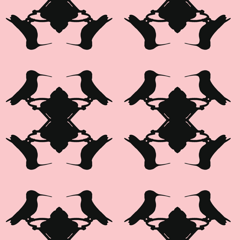 Hummingbird Pink fabric by mbsmith on Spoonflower - custom fabric