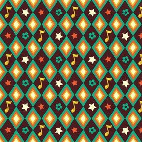 Circus pattern | brown