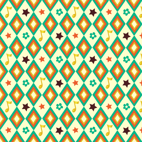 Circus pattern | white fabric by irrimiri on Spoonflower - custom fabric