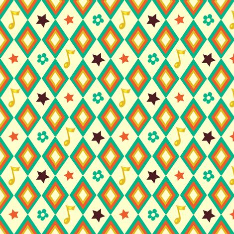 Circus pattern | white fabric by irrimiri on Spoonflower - custom fabric