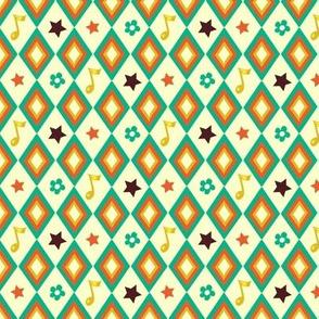 Circus pattern | white