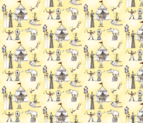 Circus like when I was young fabric by fantazya on Spoonflower - custom fabric