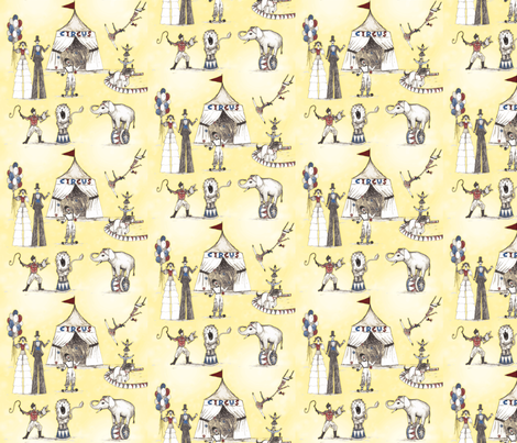 Circus like when I was young fabric by lucybaribeau on Spoonflower - custom fabric