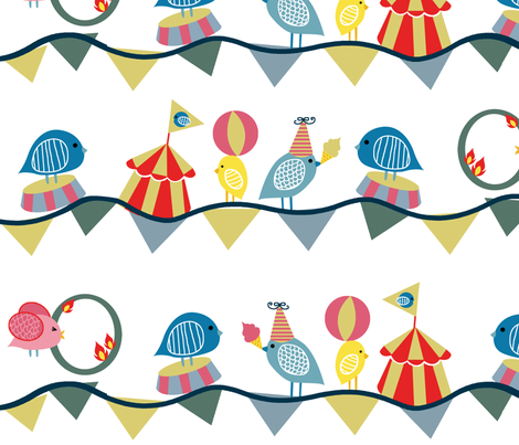 Their Circus fabric by jshin on Spoonflower - custom fabric