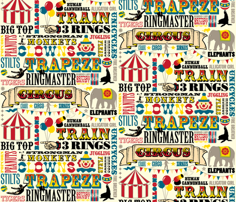 At the Circus fabric by pennycandy on Spoonflower - custom fabric