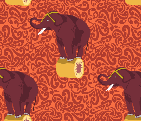 Tito the Elephant fabric by meredithjean on Spoonflower - custom fabric