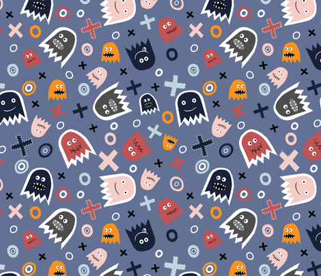 Ghost Face (4) fabric by mondaland on Spoonflower - custom fabric