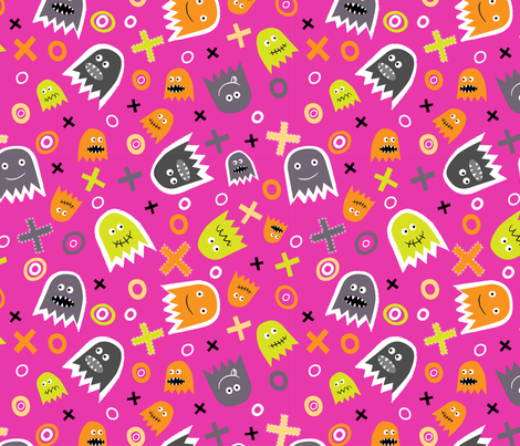 Ghost Face (6) fabric by mondaland on Spoonflower - custom fabric