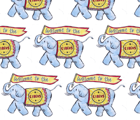 spoonelephant fabric by mmlowenfield on Spoonflower - custom fabric