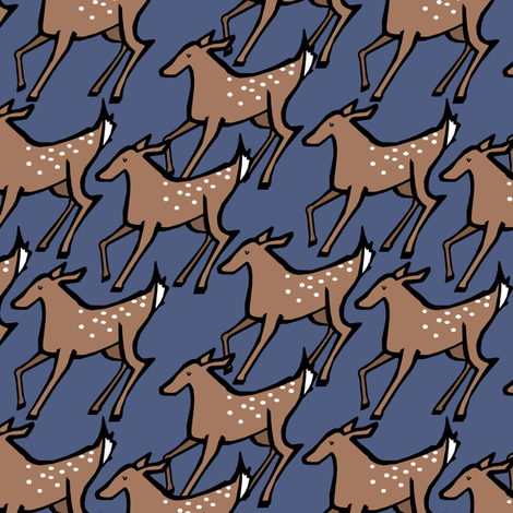 Shady Deer Print fabric by pond_ripple on Spoonflower - custom fabric