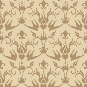 elegant bird damask