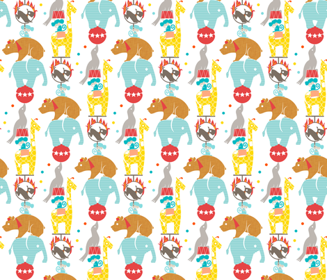 Circus Tower fabric by ttoz on Spoonflower - custom fabric