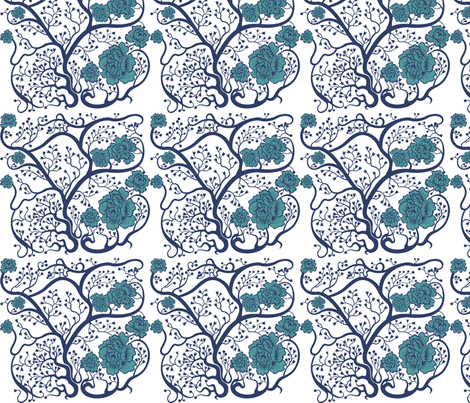 Blue As Day fabric by anastasiachatzka on Spoonflower - custom fabric
