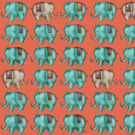 Circus Ellie fabric by catru on Spoonflower - custom fabric