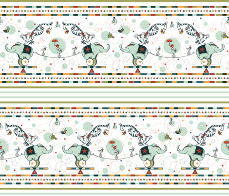 Cirque Du So Mice - © Lucinda Wei fabric by simboko on Spoonflower - custom fabric