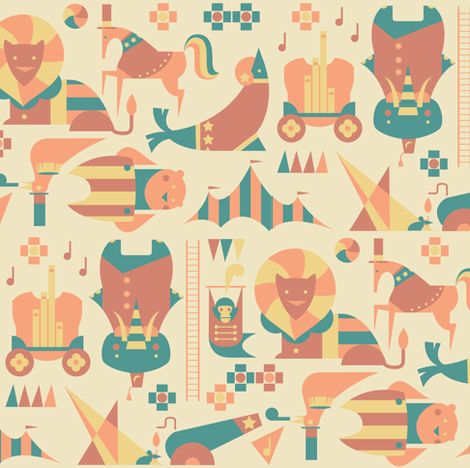Circus takeover fabric by theboerwar on Spoonflower - custom fabric