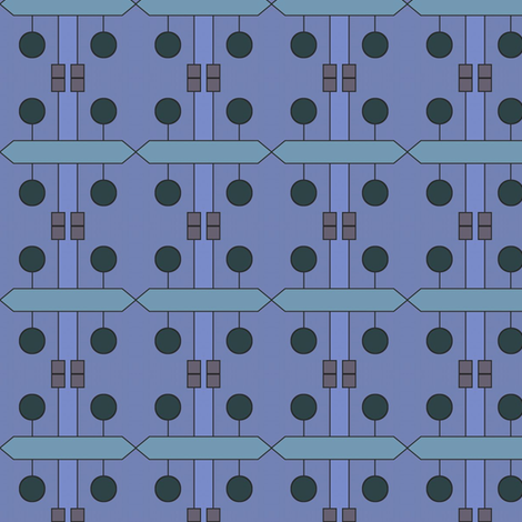 Teak Puzzle (Blue) fabric by david_kent_collections on Spoonflower - custom fabric