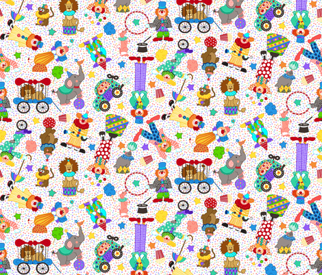 Circus_Fun fabric by beebumble on Spoonflower - custom fabric