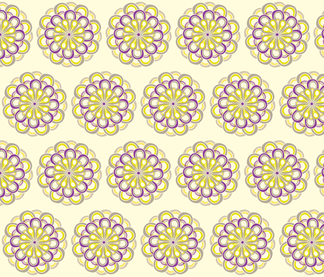 Dahlia fabric by wendyg on Spoonflower - custom fabric