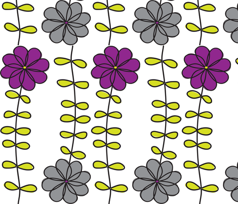 FLOWERS fabric by wendyg on Spoonflower - custom fabric