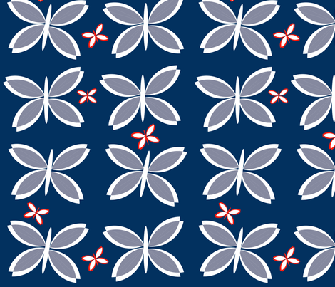 Modern butterfly fabric by mainsail_studio on Spoonflower - custom fabric