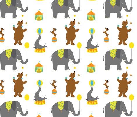 Circus Animals fabric by jenimp on Spoonflower - custom fabric